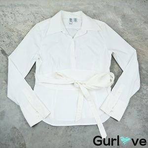 LAUNDRY by Shelli Segal White Blouse SIze L